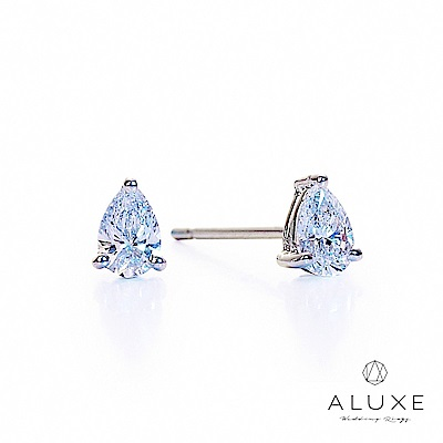 A-LUXE 亞立詩 總重 0.30克拉 梨形水滴美鑽耳環