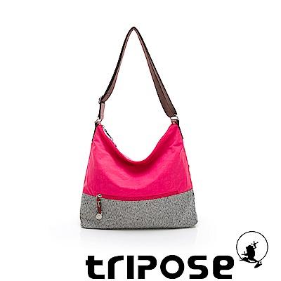 tripose 漫遊系列岩紋輕巧側肩背包 桃紅