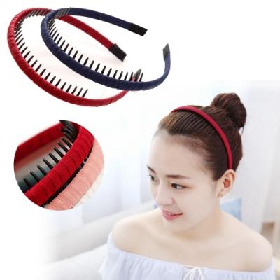 kiret韓國極簡質感齒梳髮箍/頭箍-超值2入 (贈瀏海髮貼)