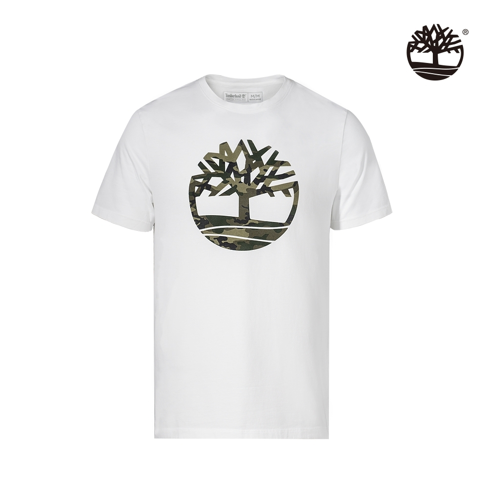 Timberland 男款白色迷彩樹形短袖圓領T恤 A2B4P