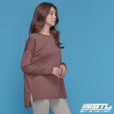 STL yoga Metro NY LS 韓國瑜珈 運動機能 地鐵 蓋臀長版寬鬆長袖上衣 乾燥玫瑰