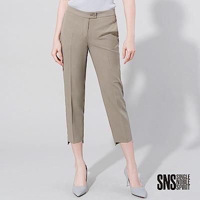 SNS 都會質感側接邊條壓褶西裝褲(2色)