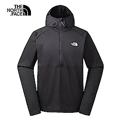 The North Face北面男款黑色輕便休閒連帽鋪棉上衣|3IFQJK3