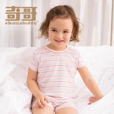 【限時滿額送玩樂劵】奇哥 條紋圓領衫-膠原蛋白涼爽布 6-10歲 (2色選擇)