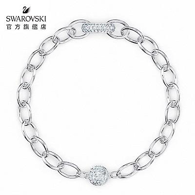 SWAROVSKI 施華洛世奇 The Elements 白金色簡約時尚手鏈