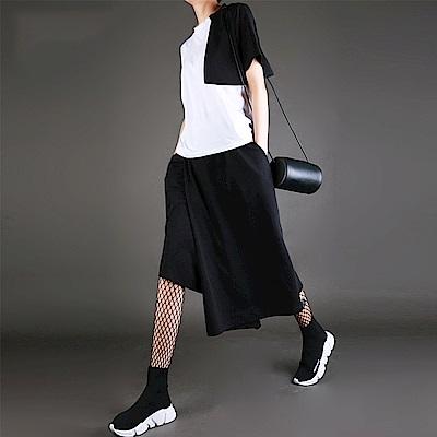 個計設計鬆緊腰不規則顯瘦大碼寬鬆褲-設計所在MP1704