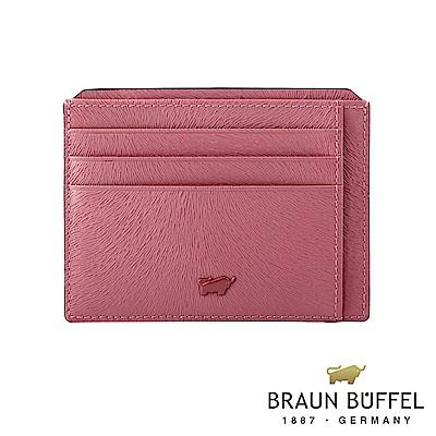 BRAUN BUFFEL - 奧菲莉亞V系列10卡單層卡夾 - 玫瑰粉