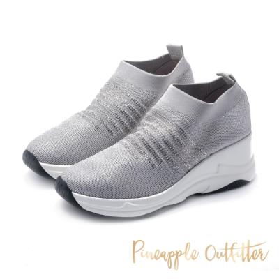 Pineapple Outfitter-CALISTA晶鑽彈性針織休閒鞋-特殊紋灰色