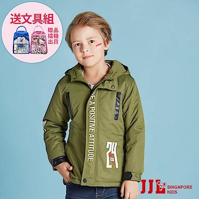 JJLKIDS 帥氣騎士鋪棉厚外套(軍綠)