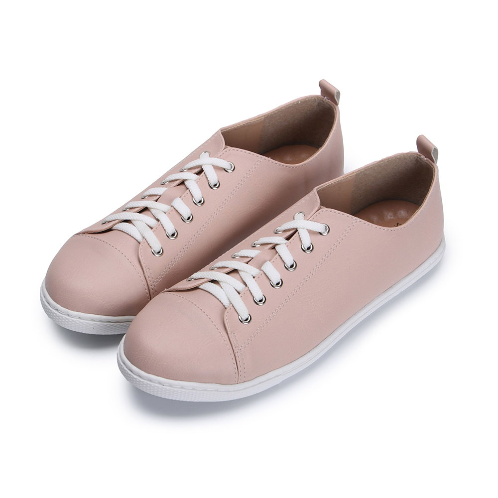 BuyGlasses 簡約風小文青休閒鞋-粉