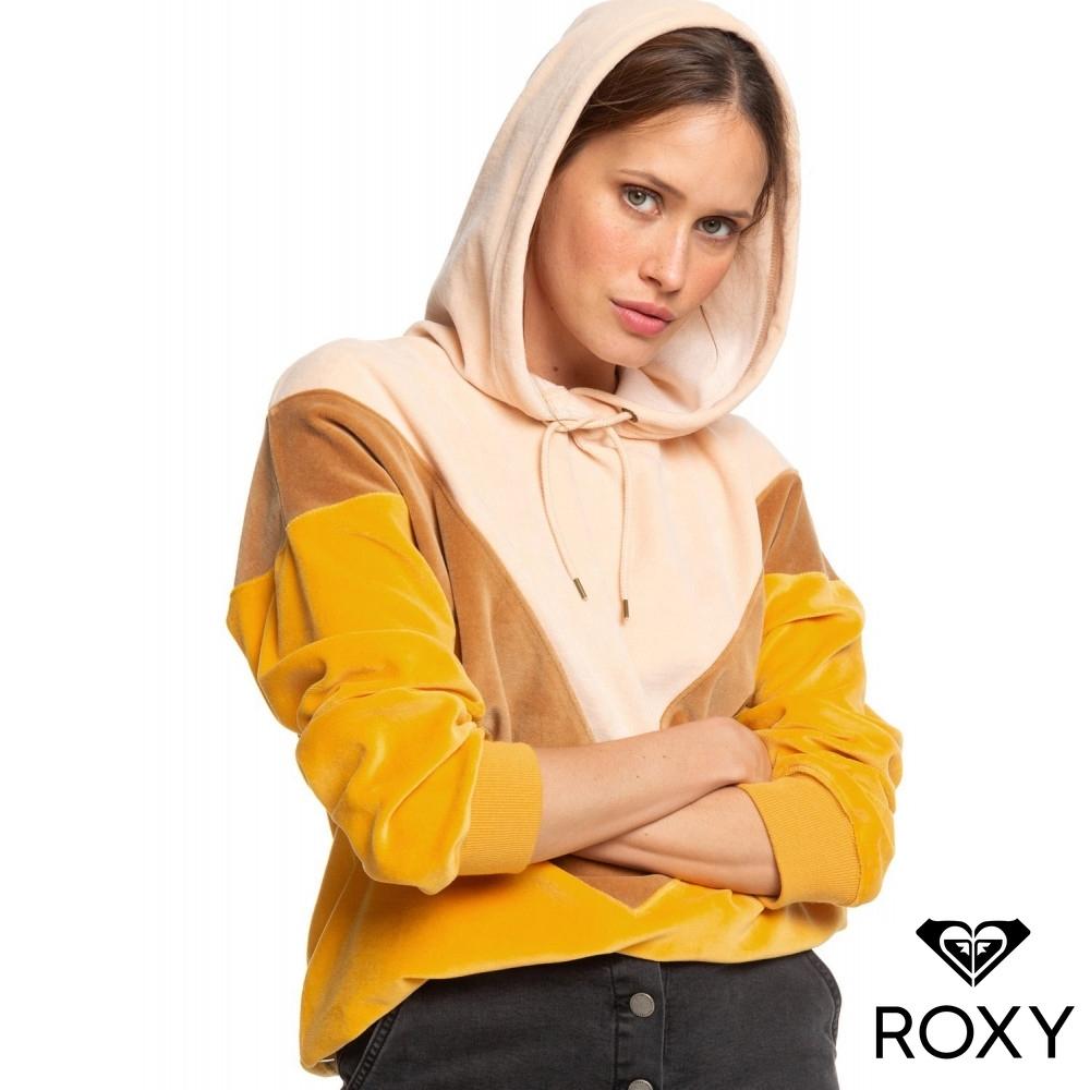 【ROXY】CHASING WAVES 帽T 黃色