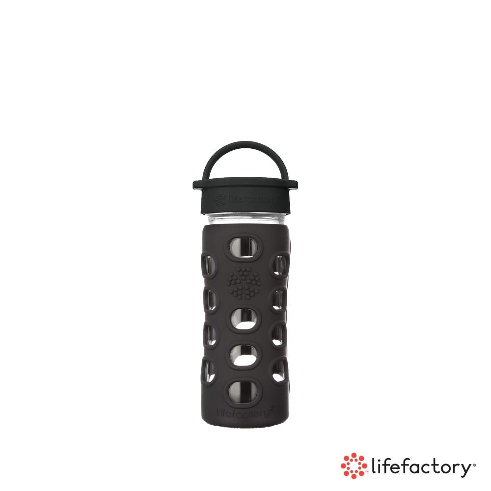 lifefactory 玻璃水瓶平口350ml-黑色(CLA-350-BK)