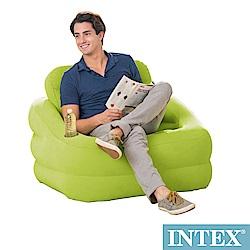INTEX 歐式充氣沙發(可拆式靠背)-蘋果綠(68586)
