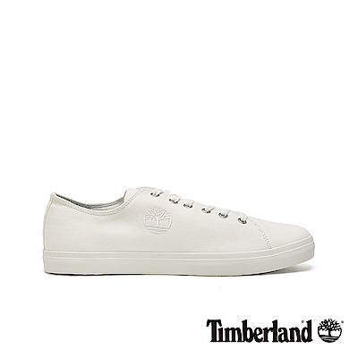 Timberland 男款白色大樹LOGO帆布休閒鞋|A25Y6