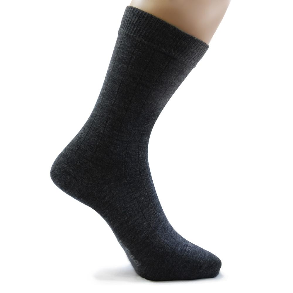 TiNyHouSe超細輕薄保暖襪羊毛襪-中筒輕薄款(L尺碼T-610/601鐵灰色)2雙組