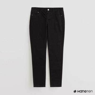 Hang Ten - 女裝 - 純色雙口袋休閒長褲 - 黑