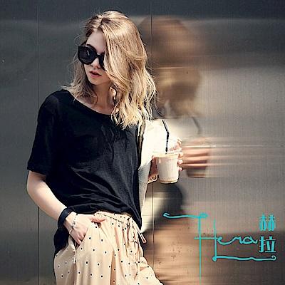 【Hera 赫拉】 竹節棉短袖圓領寬鬆女T恤(7色)