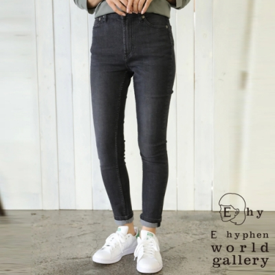 E hyphen 定番顯瘦牛仔丹寧窄身褲