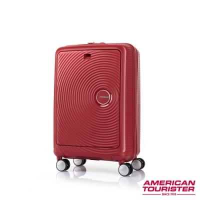 AT美國旅行者 20吋Curio前開式立體唱盤硬殼TSA登機箱(辣椒紅)