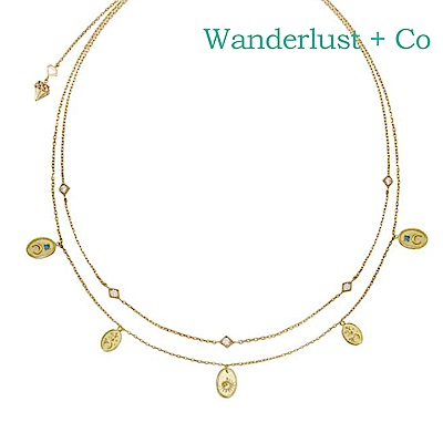 Wanderlust+Co 澳洲時尚品牌 REVERIE浪漫秘密花園項鍊 金色