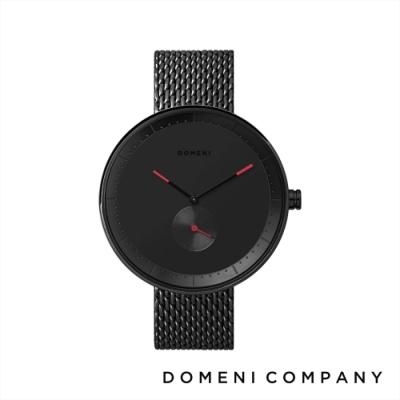 DOMENI COMPANY 經典系列 316L不鏽鋼單眼錶 黑色錶帶 -黑/40mm