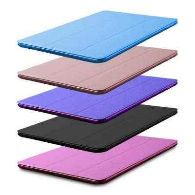 DW LS03便攜款 蠶絲紋9.7吋iPad平板保護皮套