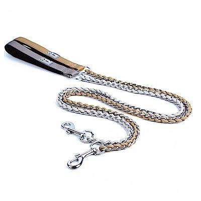 寵愛有家-黃牛皮縫製牽繩中大型犬專用(寵物牽繩)