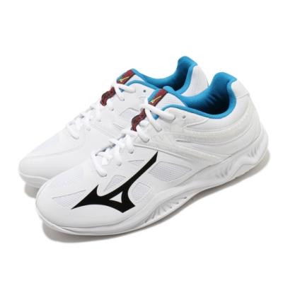 Mizuno 排球鞋 Thunder Blade 2 運動 男鞋 美津濃 排羽球 輕量 耐磨 透氣 白 藍 V1GA197046