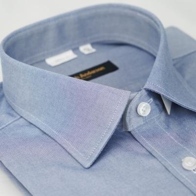 【金安德森】灰色純棉易整燙窄版長袖襯衫fast
