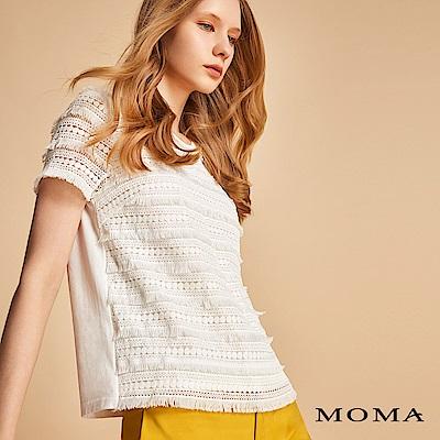 MOMA 繡花蕾絲針織上衣