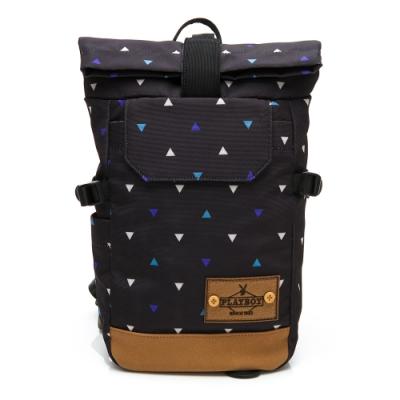 PLAYBOY- 單肩背包亦可做後背包 lifestyle系列-藍色