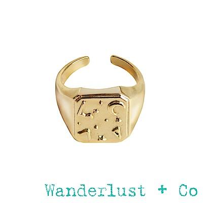 Wanderlust + Co薩利亞圖章戒指 - 金色