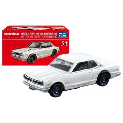 任選TOMICA Premium No.34 日產Skyline GT-R(KPGC10) 白 初回 TM14939 多美小汽車