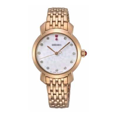SEIKO 點鑽優雅施華洛世奇元素腕錶6N01-00F0K(SUR624P1)