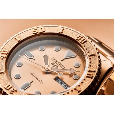 SEIKO 精工 5 Sports 玫瑰金特別版機械錶(SRPE72K1)-42.5mm