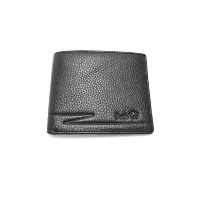 DRAKA 達卡 - 烙印Z紋系列-真皮牛皮短夾
