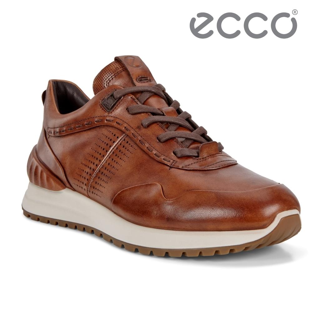 ECCO ASTIR 雅躍型男運動休閒鞋 男鞋 琥珀色