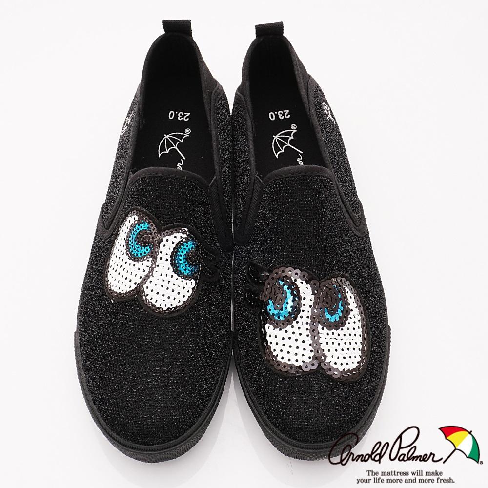 雨傘牌 大眼睛休閒鞋款 EI83614黑(親子大童段)