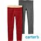 【Carter's】紅色格紋2件組內搭褲(2T-5T)  (台灣總代理) product thumbnail 1