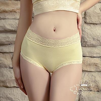內褲  超柔軟親膚蕾絲褲-黃 La Queen