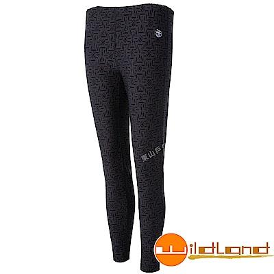 Wildland 荒野 0A52688-99深霧灰 女彈性保暖內搭貼腿褲