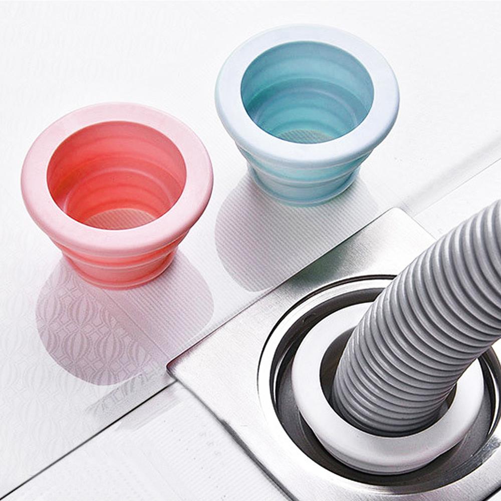 E.dot (3入組)防蟲防臭伸縮式排水口密封圈(二色選)