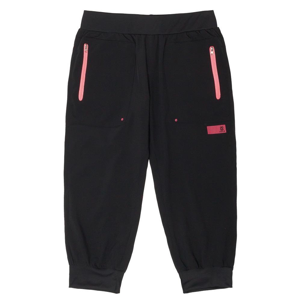 【FIVE UP】寬鬆舒適風衣長褲-黑粉