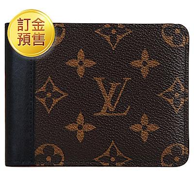 [訂金預售]LV M93801 經典Monogram花紋牛皮鑲間短夾