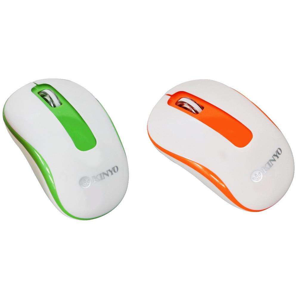KINYO 2.4GHz藍光無線滑鼠(顏色隨機)