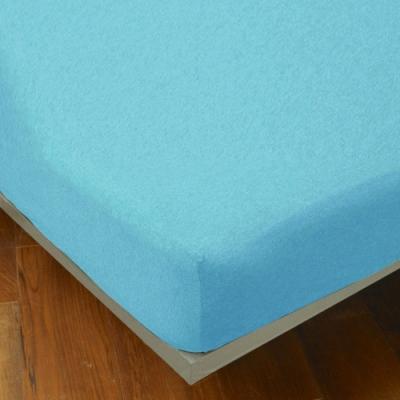 YVONNE COLLECTION 雙人純棉麻花床包-淺藍綠
