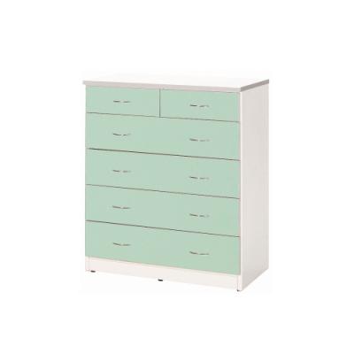 韓菲-防潮綠白色五層塑鋼斗櫃-90x48x110cm