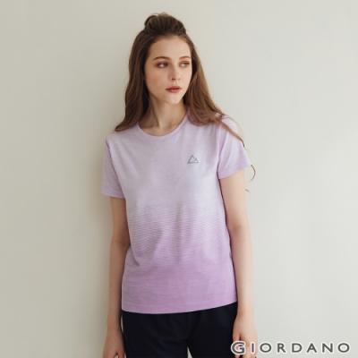GIORDANO 女裝G-MOTION無縫涼感短袖T恤 - 34 仿段彩薰衣草紫