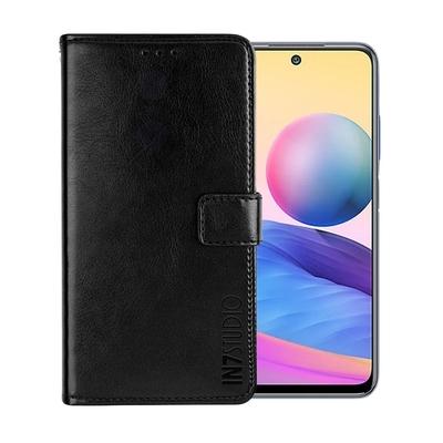 IN7 瘋馬紋 紅米 Note 10 5G (6.5吋) 錢包式 磁扣側掀PU皮套 吊飾孔 手機皮套保護殼