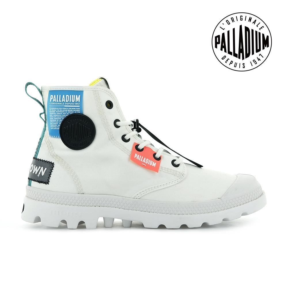 PALLADIUM PAMPA LITE OVB NEON輕量標籤軍靴-中性-白